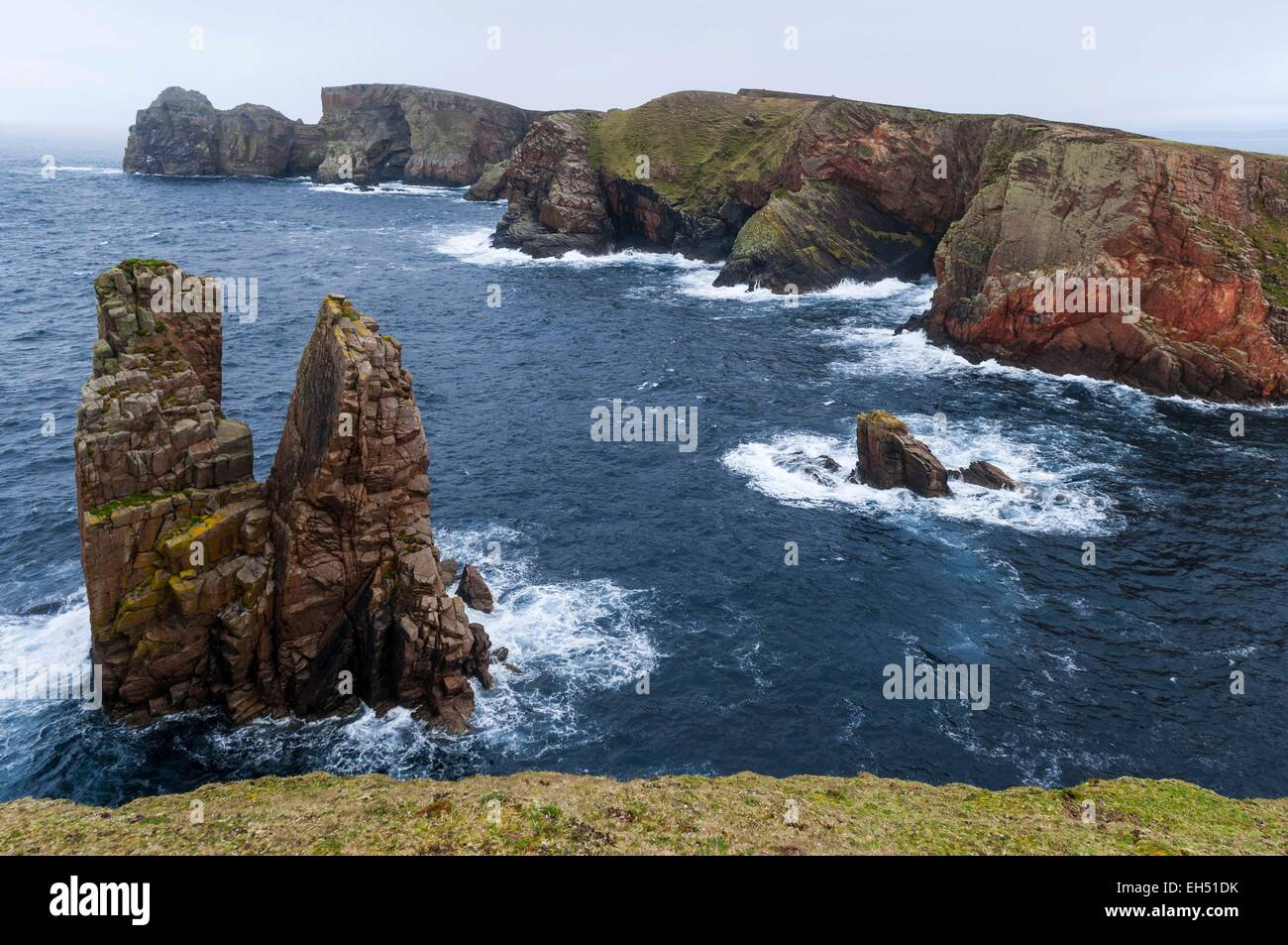Ireland, Ulster, Donegal County, island of Tory, cliffs on east side island - Stock Image