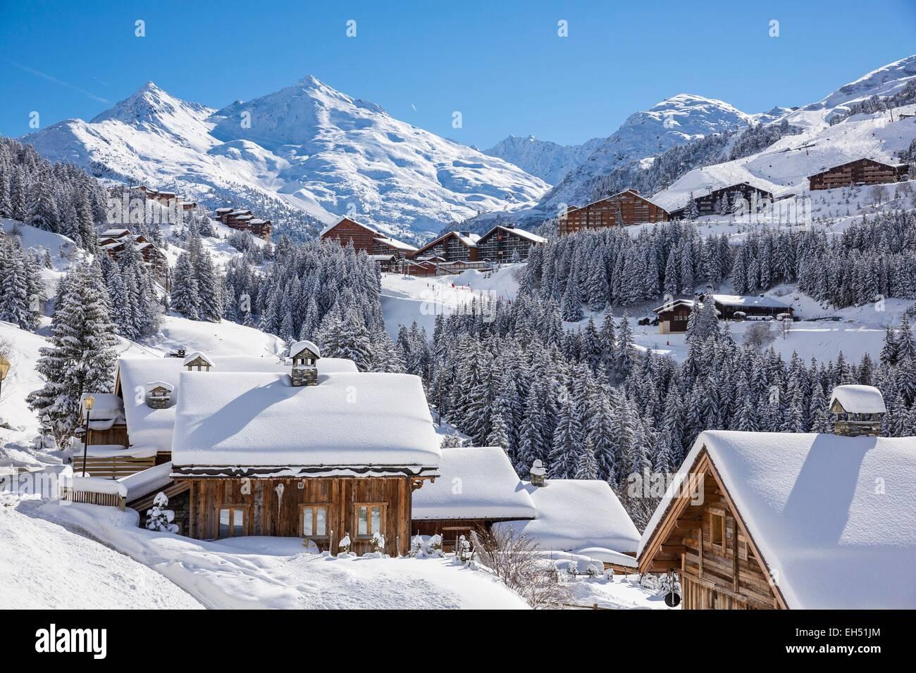france, savoie, tarentaise valley, hamlet of la rosiere, meribel