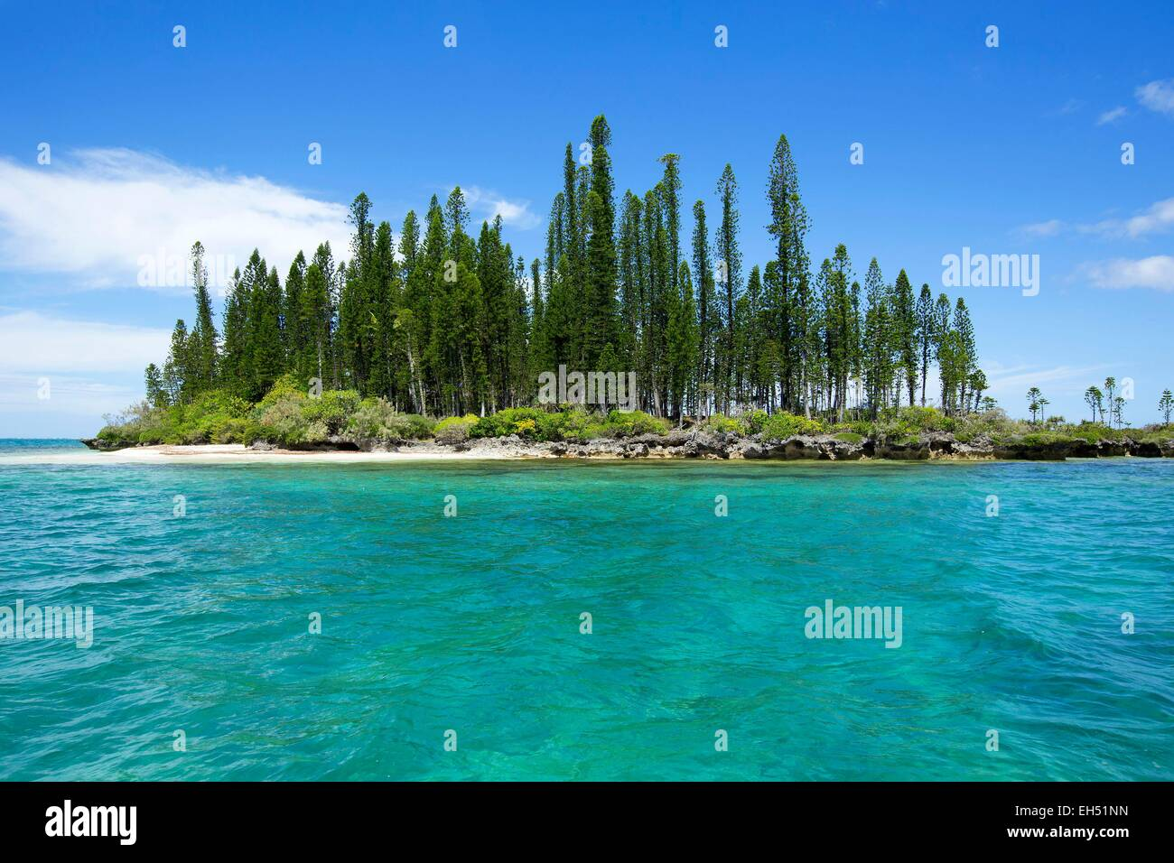 France, New Caledonia, Isle of Pines, Uni Bay Lagoon listed as World Heritage by UNESCO - Stock Image