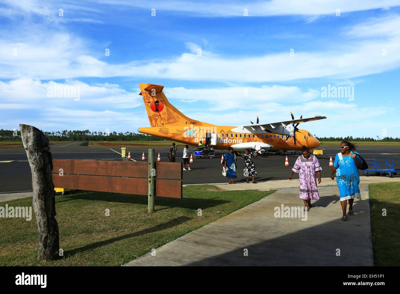 France, New Caledonia, Isle of Pines Airfield Moue - Stock Image