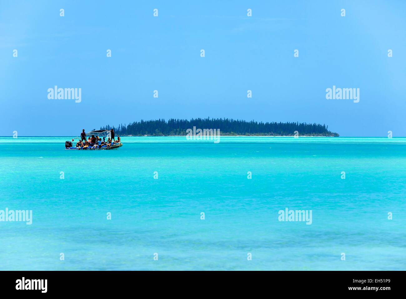 France, New Caledonia, Isle of Pines, Pointe Ita Lagoon listed as World Heritage by UNESCO - Stock Image