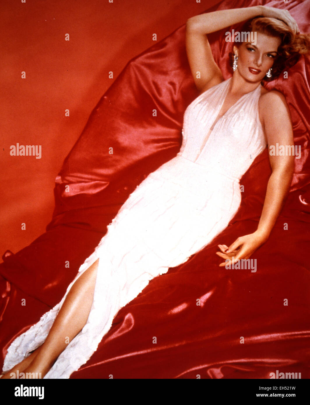 JANE RUSSELL (1921-2011) US film actress in a 1956 publicity shot for The Revolt of Mamie Stover - Stock Image