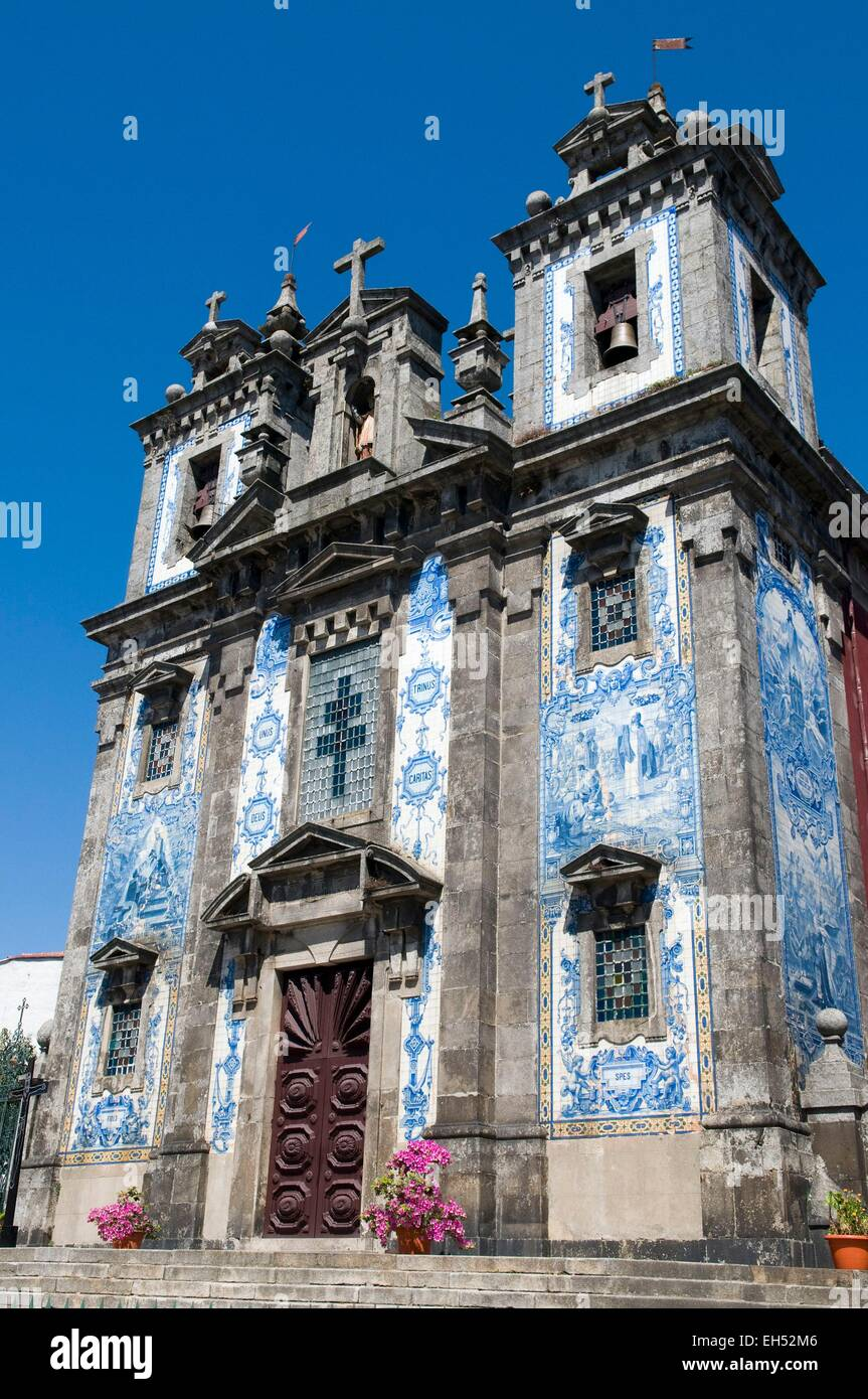 Portugal, North Region, Porto, historical center listed as World Heritage by UNESCO, church of Santo Ildefonso - Stock Image