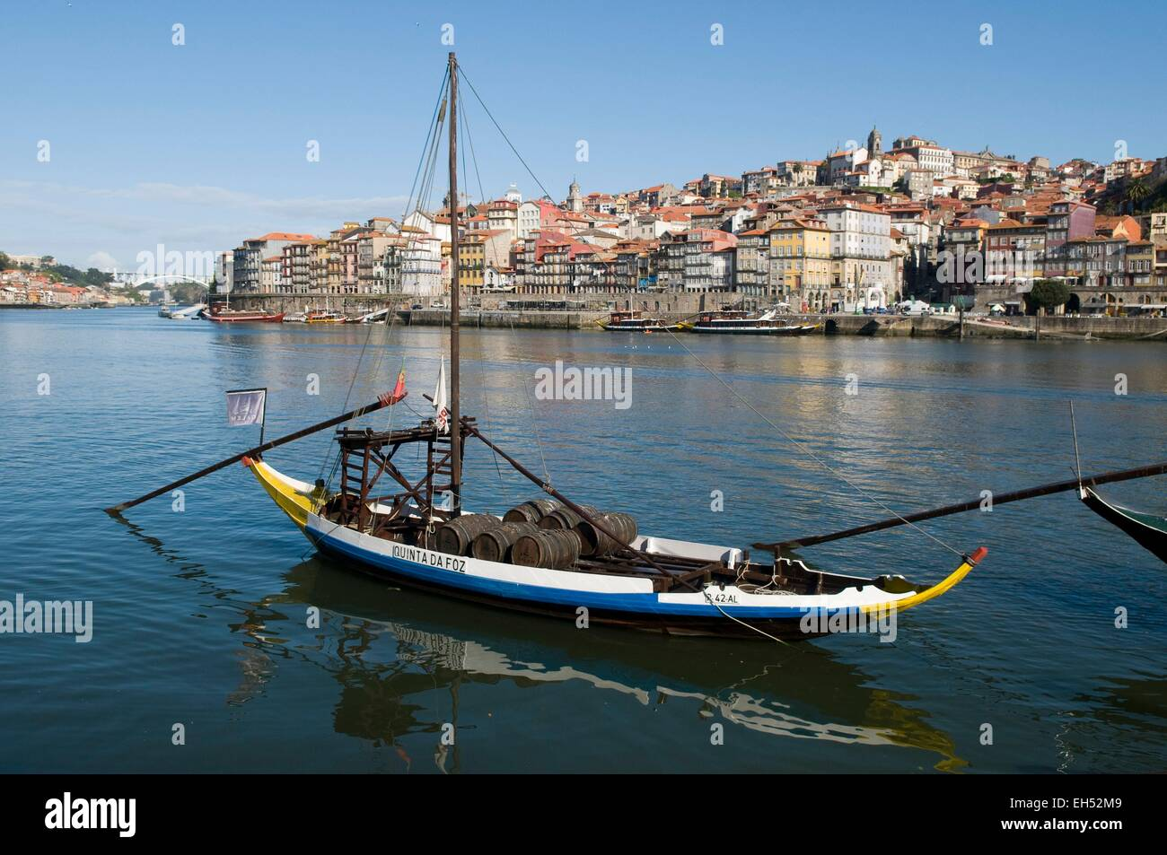Portugal, North Region, Porto, historical center listed as World Heritage by UNESCO, Cais de Ribeira historic district, - Stock Image