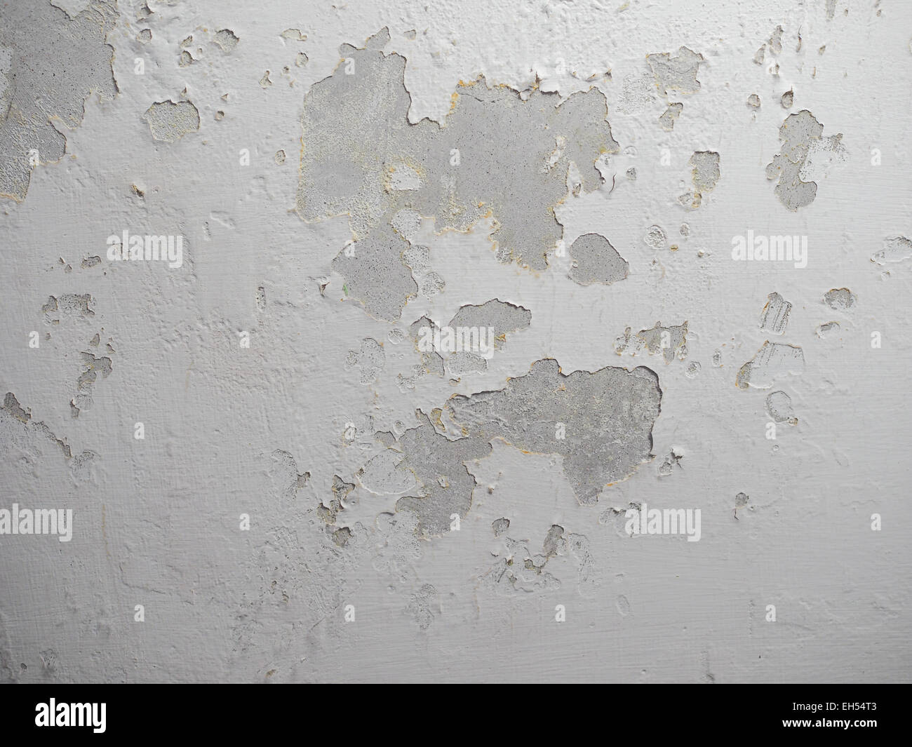 Damage caused by damp and moisture on a wall - Stock Image