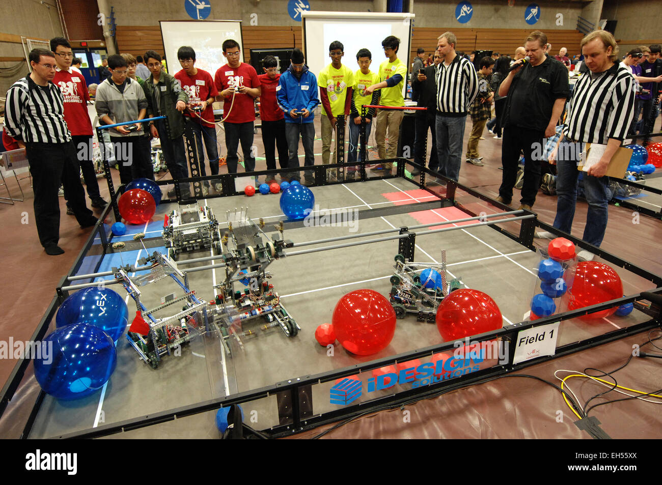 Vancouver 6th Mar 2015 Students Take Part In The 2015 Vex