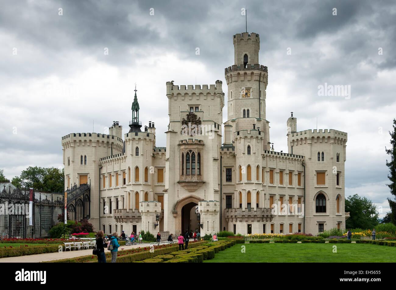 Hluboka nad Vltavou Castle - Stock Image