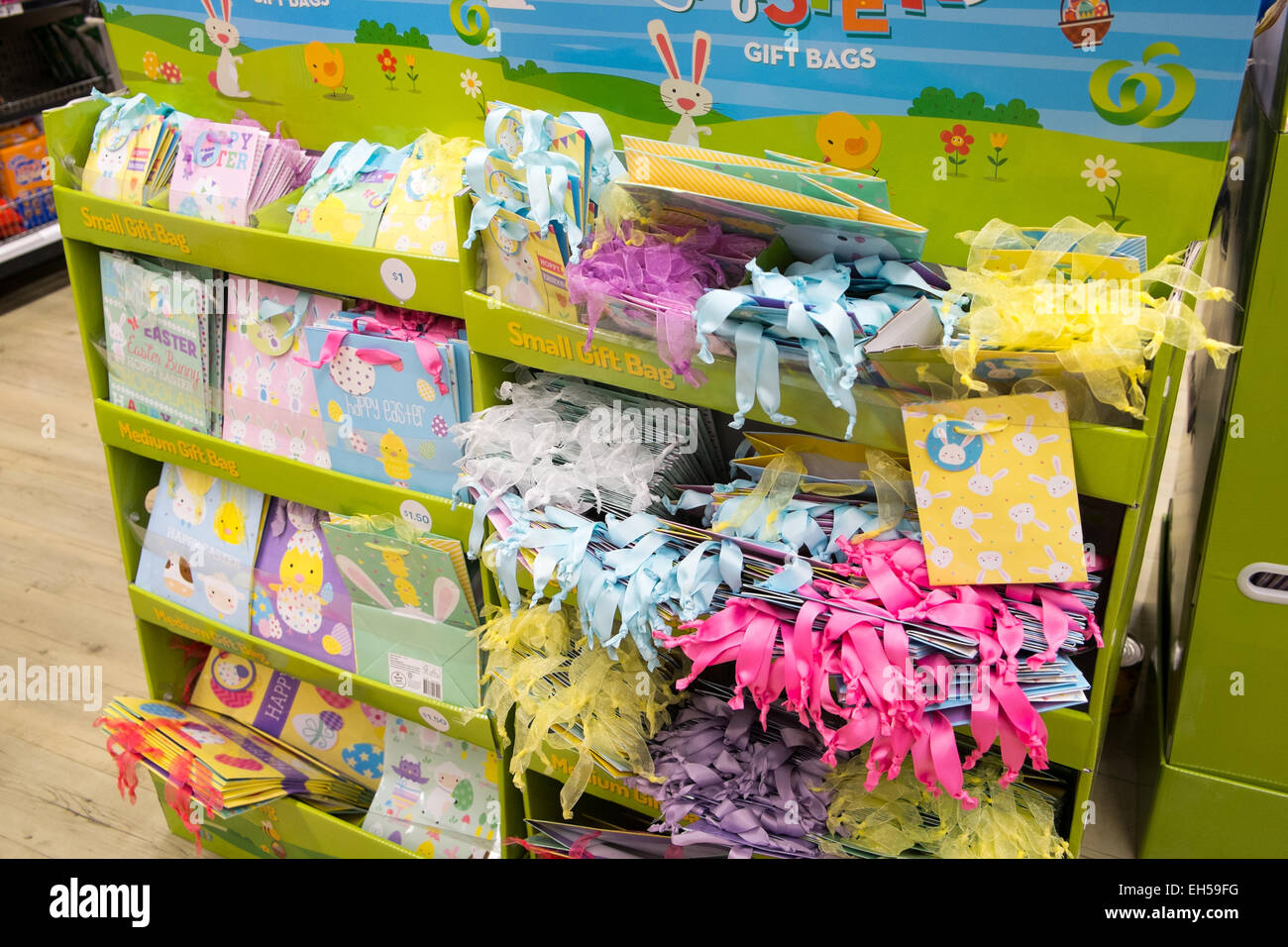 Gift cards stock photos gift cards stock images alamy easter wrapping and gift cards for sale interior of an australian woolworths supermarket store in mona negle Choice Image