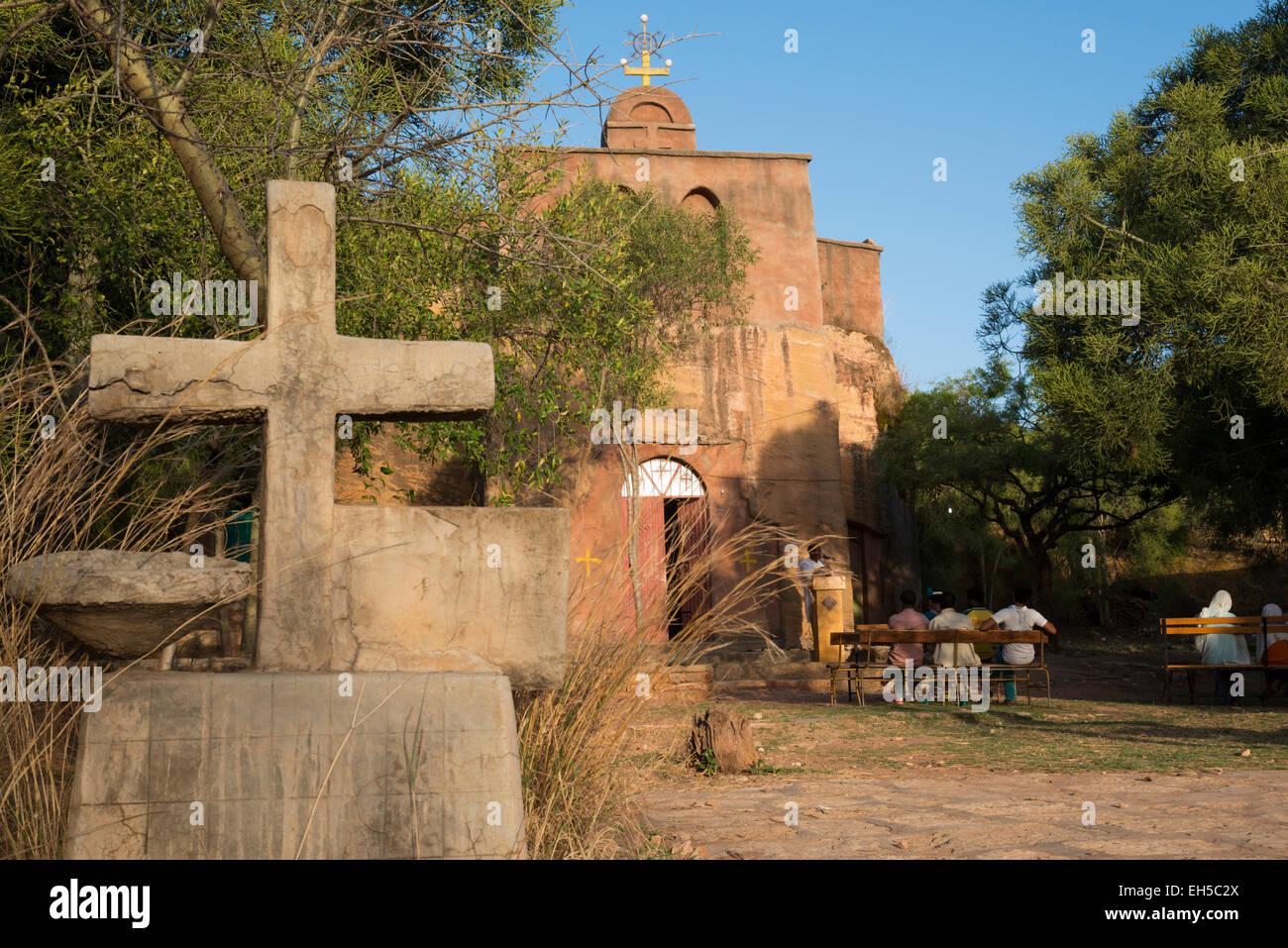 Rock hewn churches of Tigray. Wukro. Northern Ethiopia. - Stock Image