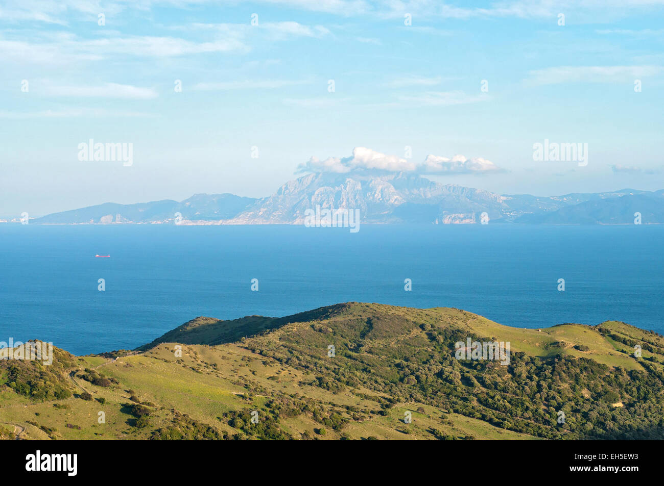 View africa morocco strait gibraltar stock photos view - Moroccan port on the strait of gibraltar ...