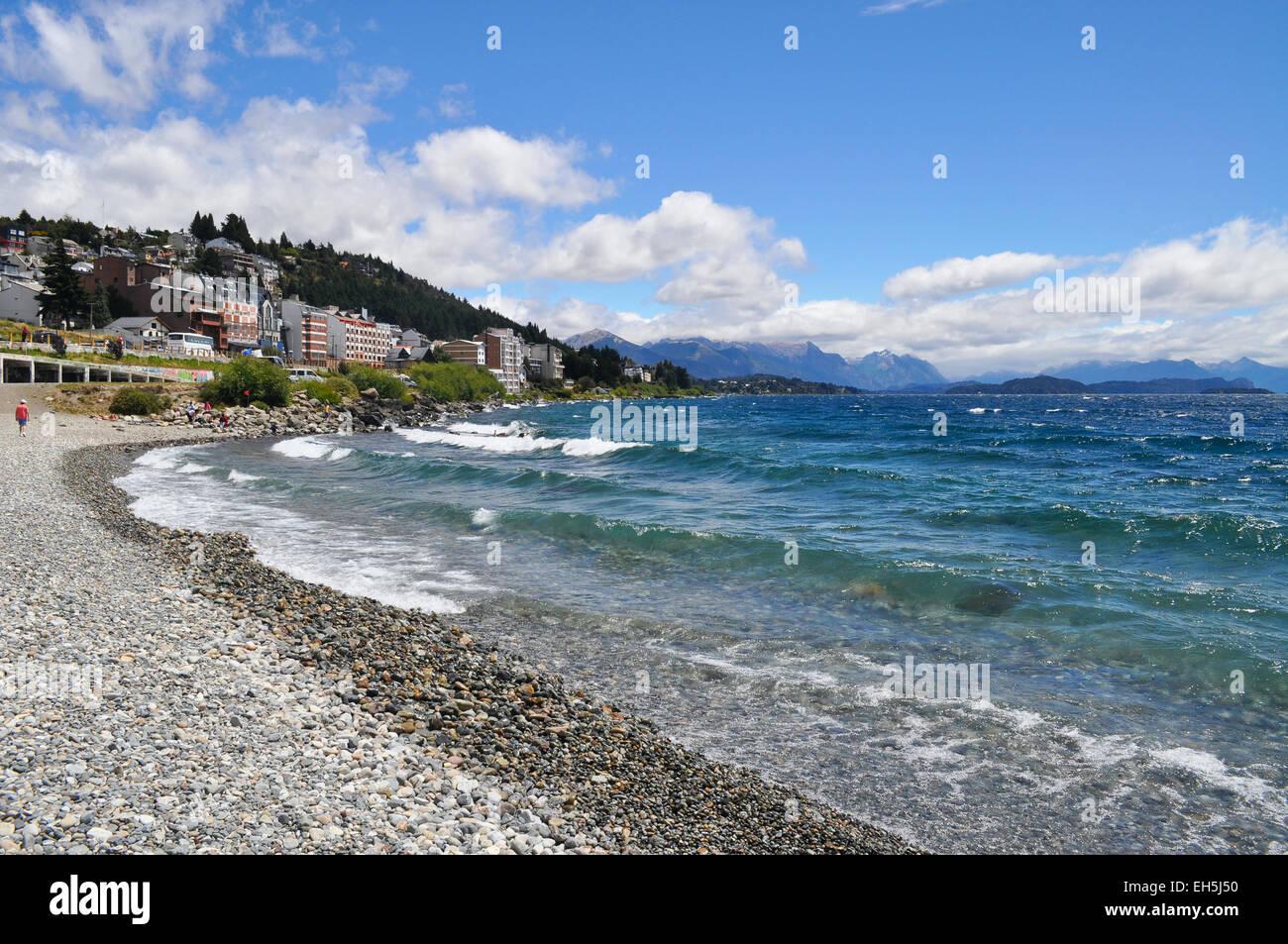 Lake Nahuel Huapi. San Carlos de Bariloche. Argentina. - Stock Image