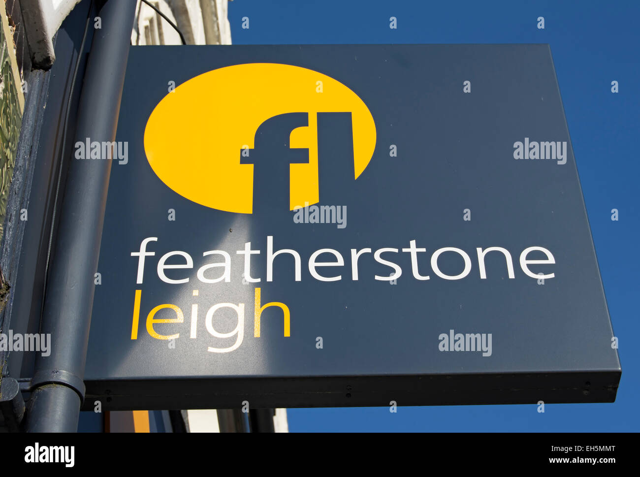 hanging sign at a branch of estate agents featherstone leigh, twickenham, middlesex, england Stock Photo