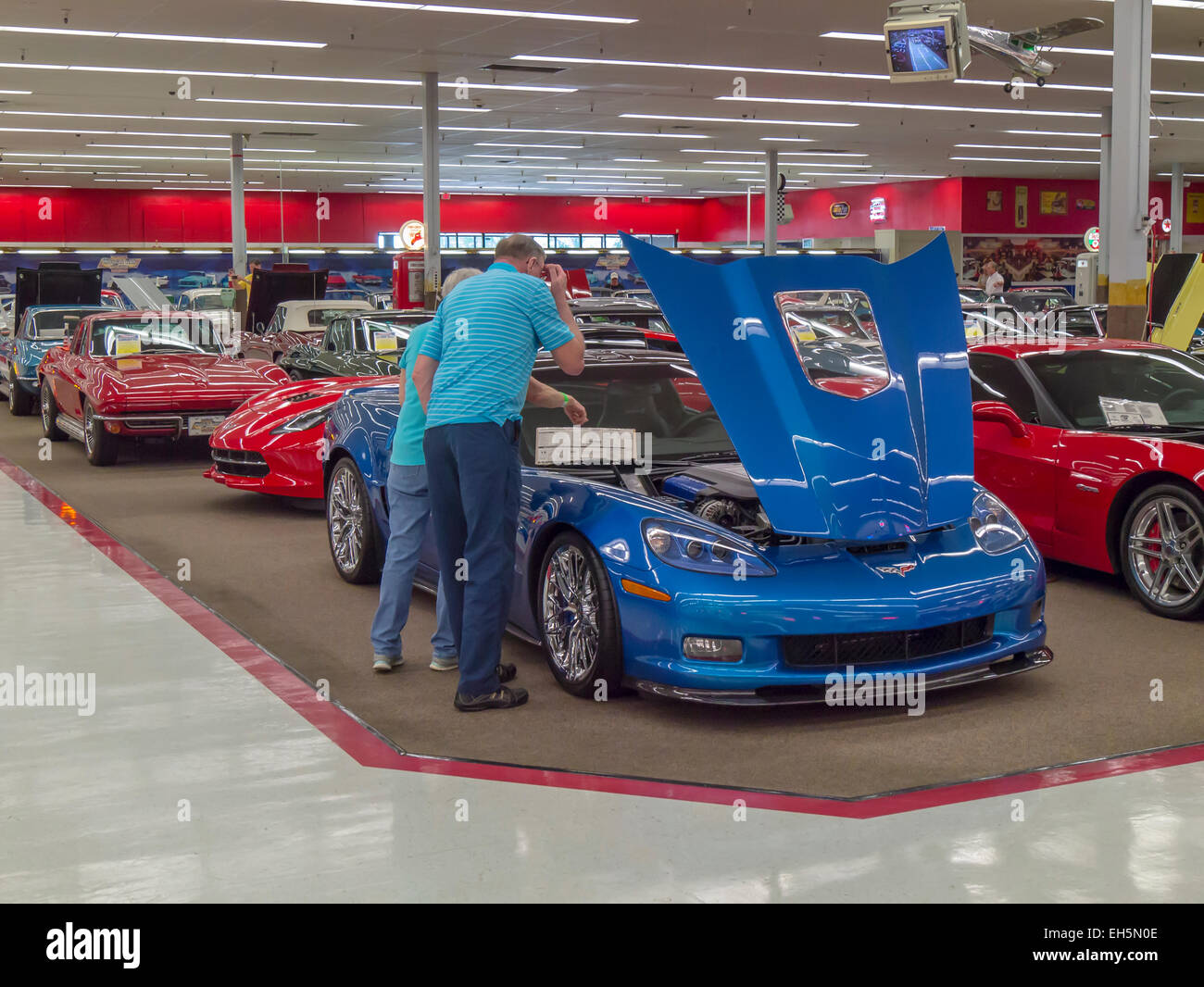 Rick Treworgy's Muscle Car City auto museum in Punta Gorda Florida - Stock Image