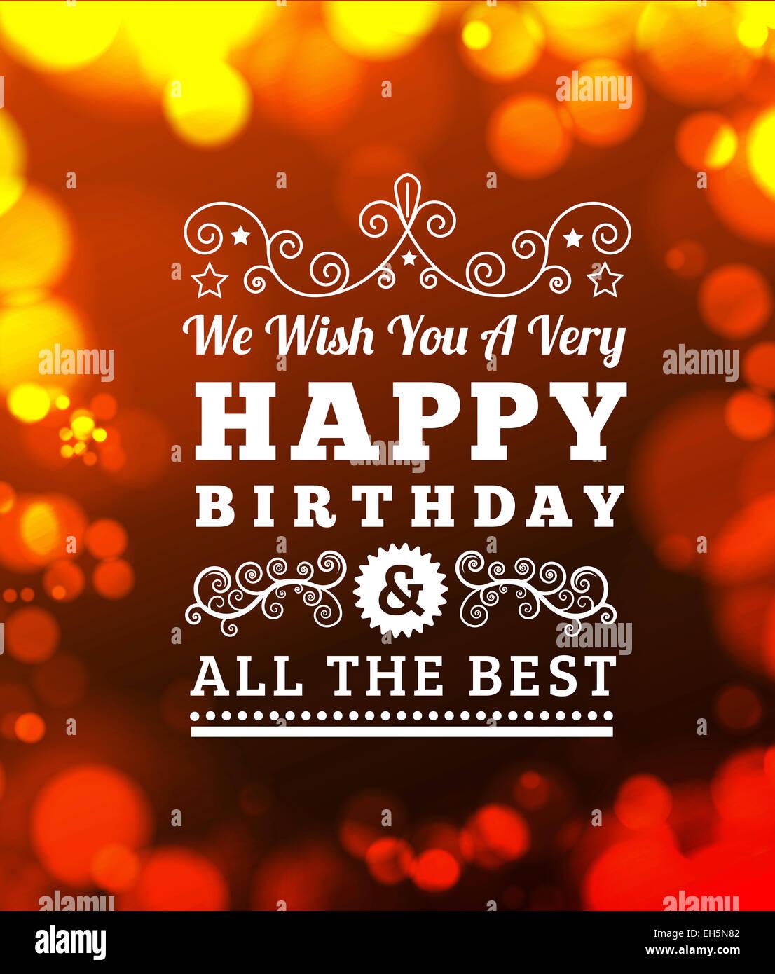 Birthday Greetings Stock Photo 79417074 Alamy