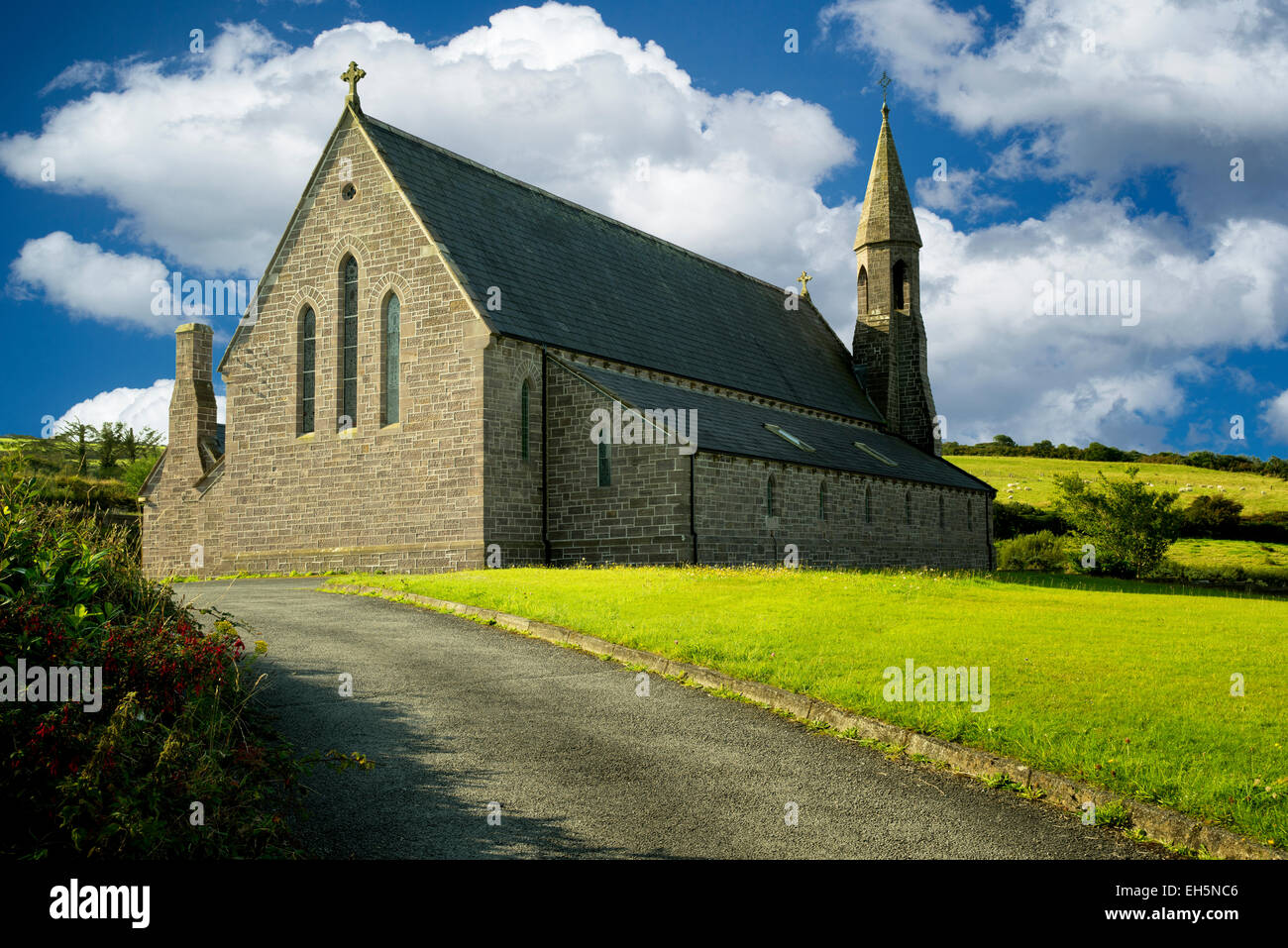 Church of John the Baptist. Catholic church in Dingle, Ireland - Stock Image