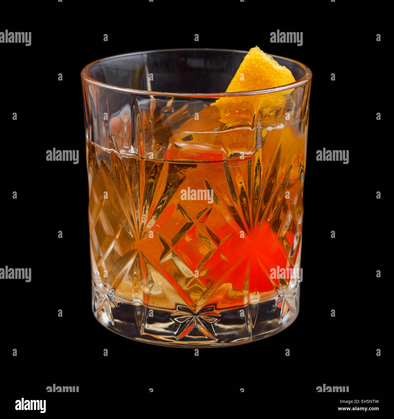 Old Fashioned drink - Stock Image