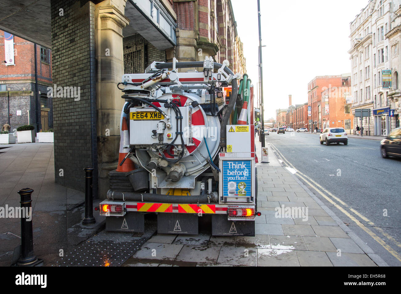 Emergency Sewer Maintenance, Deansgate, Manchester - Stock Image