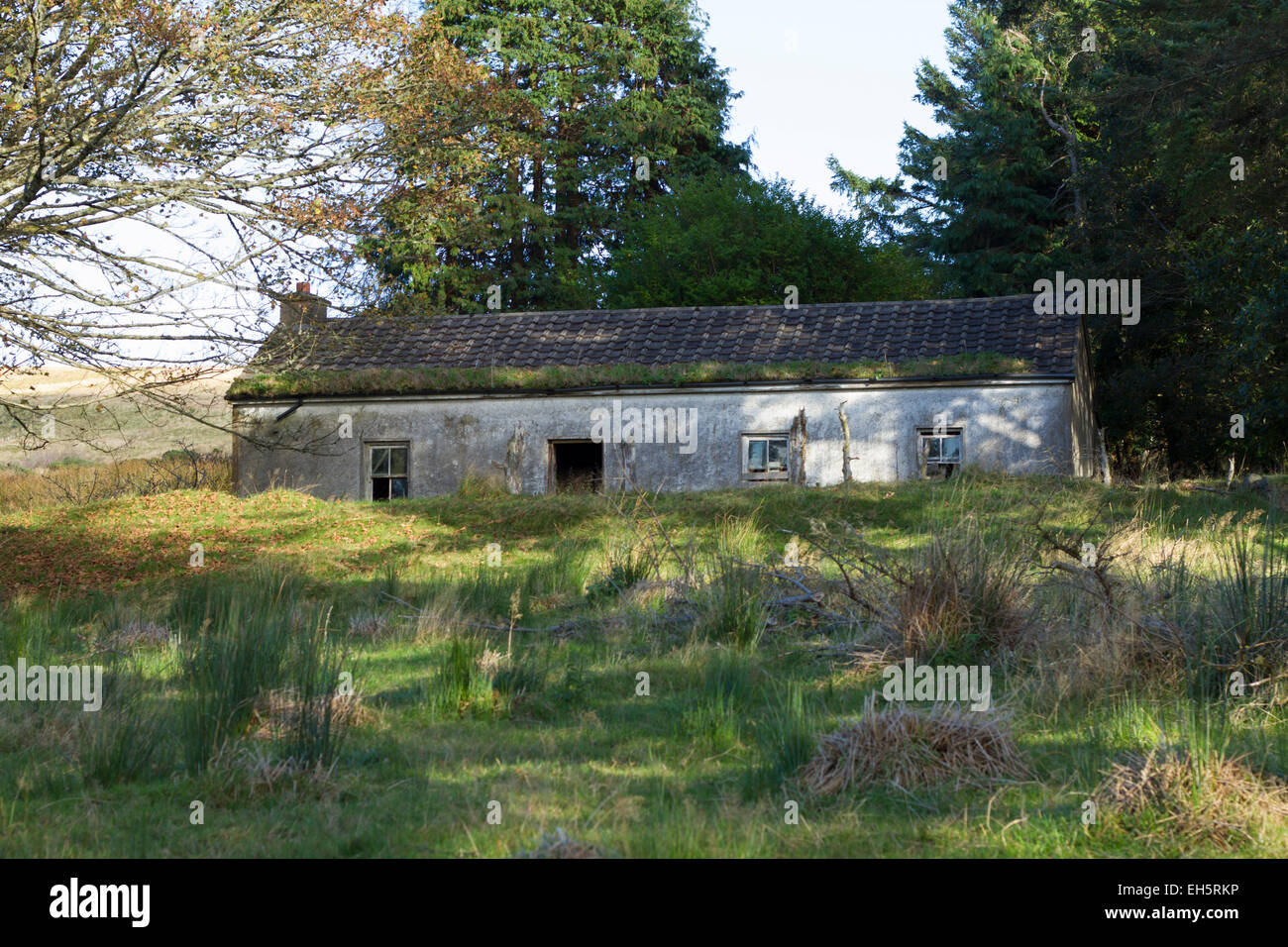 An old run down house in Co. Donegal, Ireland - Stock Image
