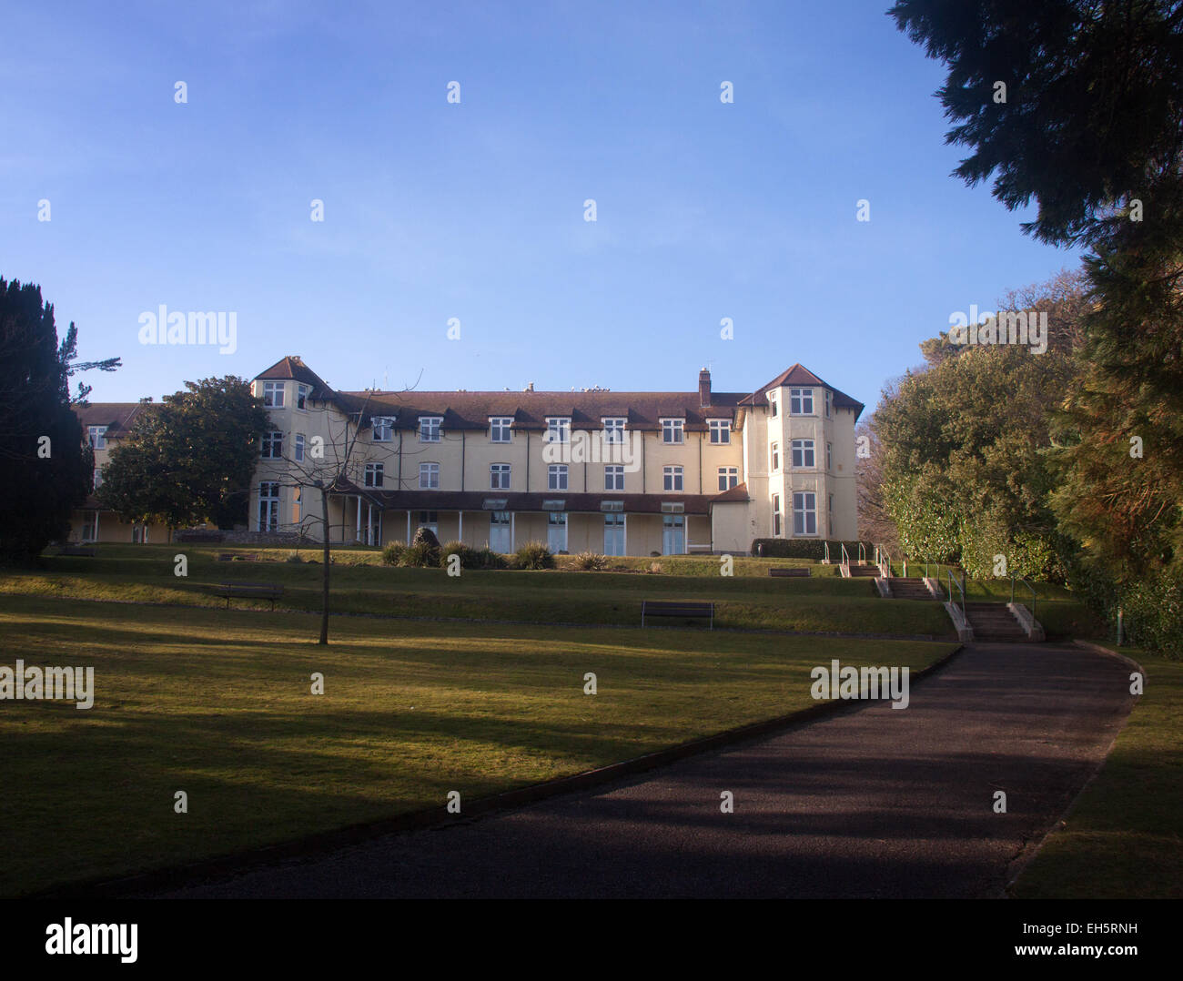 East Devon District Council offices at the Knowle, Sidmouth. If council plans go ahead, the premises will be sold - Stock Image