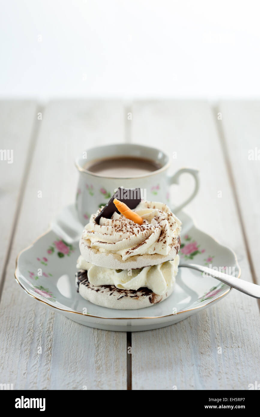 Coffee and cake. - Stock Image