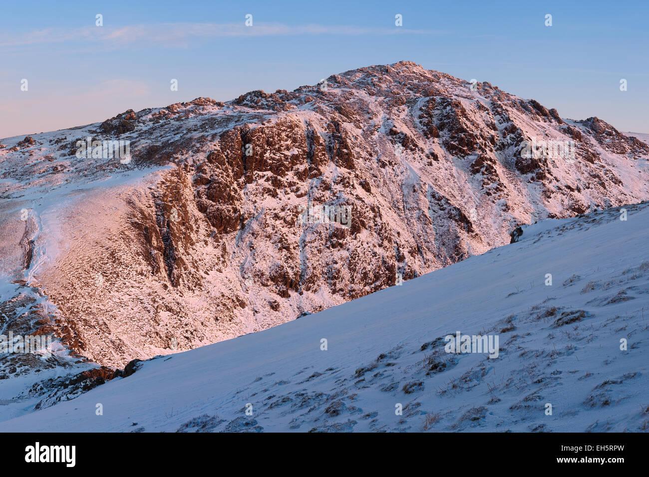 The summit of Cadair Idris, Snowdonia national park, north Wales. Stock Photo