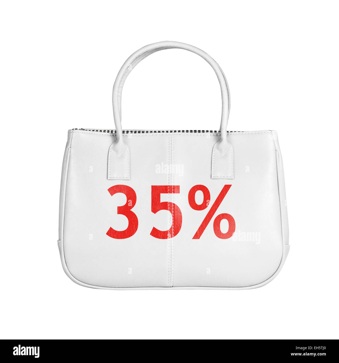 Thirty five percent sale bag. Design element isolated on white background with clipping path - Stock Image