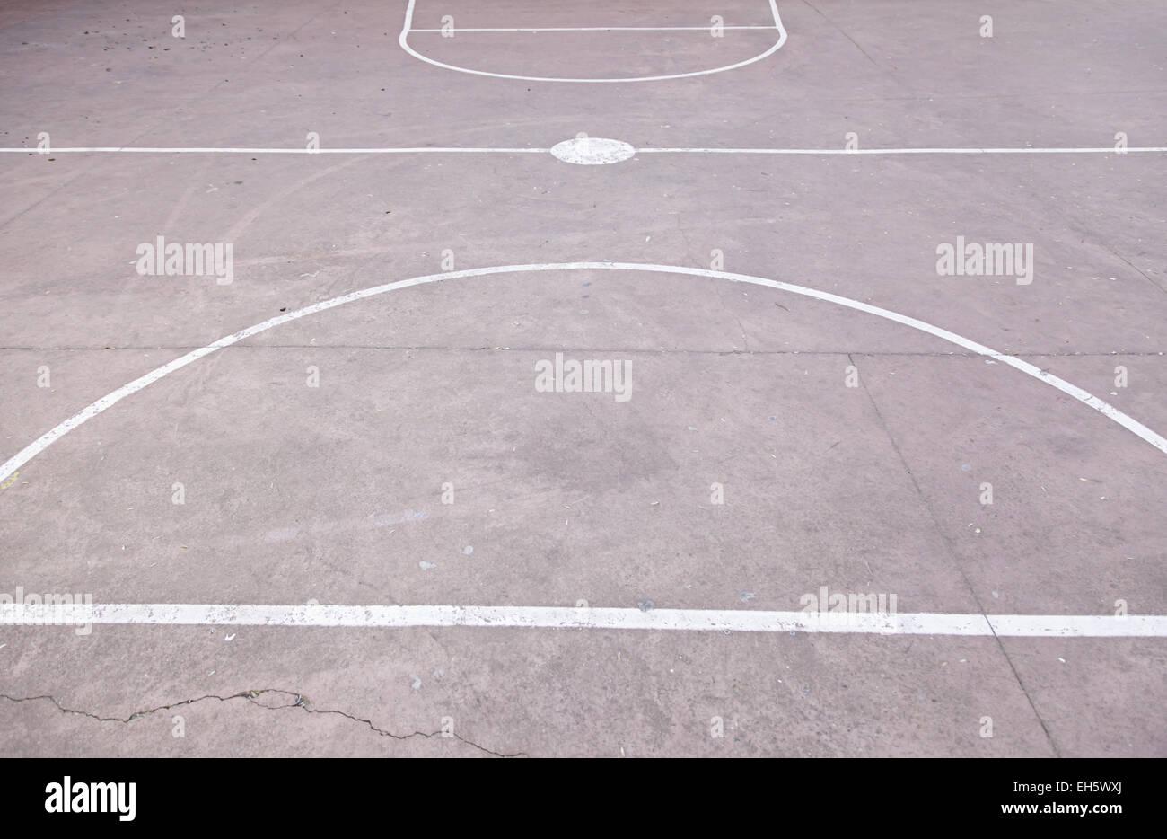Floor Basketball Court Detail Concrete Floor Outdoor