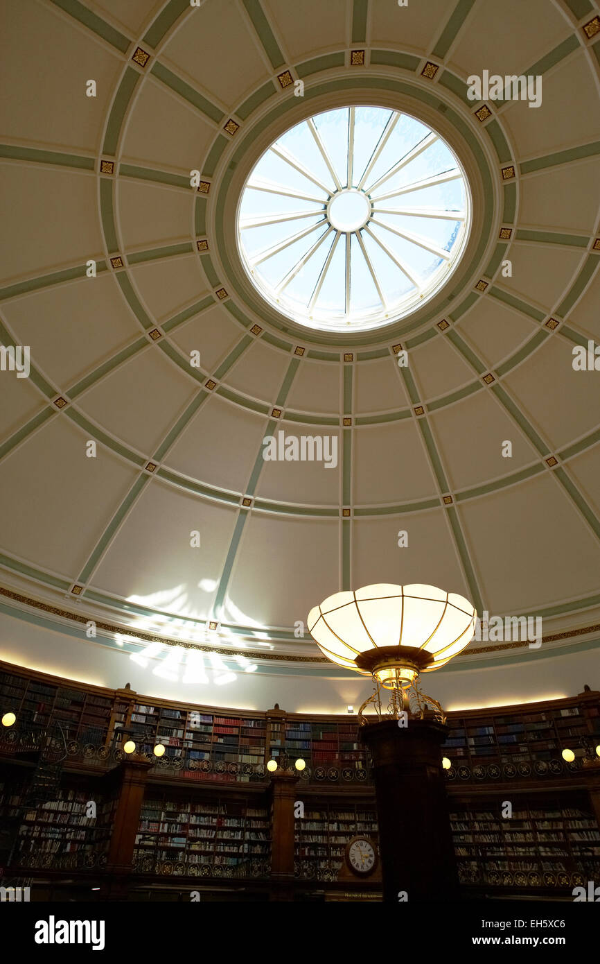 Ceiling in Picton reading room Central Library Liverpool Merseyside UK Stock Photo