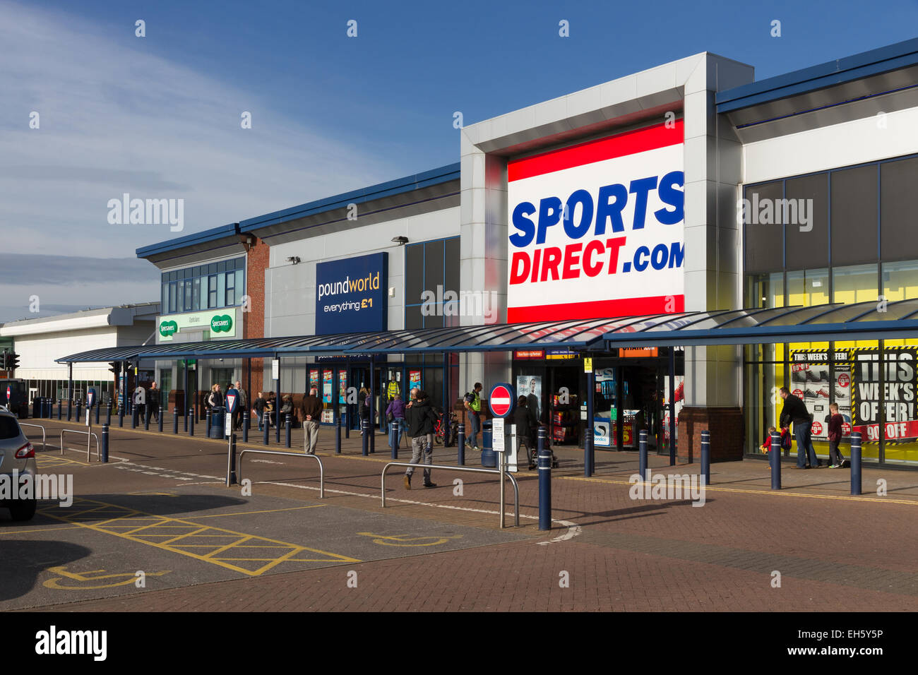 Shop store retail park stock photos shop store retail for Cheap football shirts sports direct
