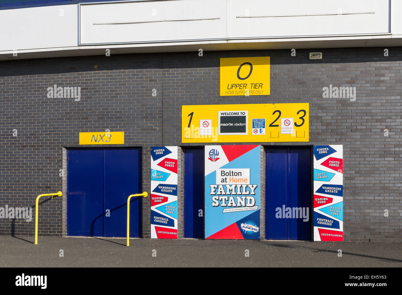 68db6c8f809a Turnstiles for the Family Stand at Bolton Wanderers Reebok Macron Stadium  in Horwich