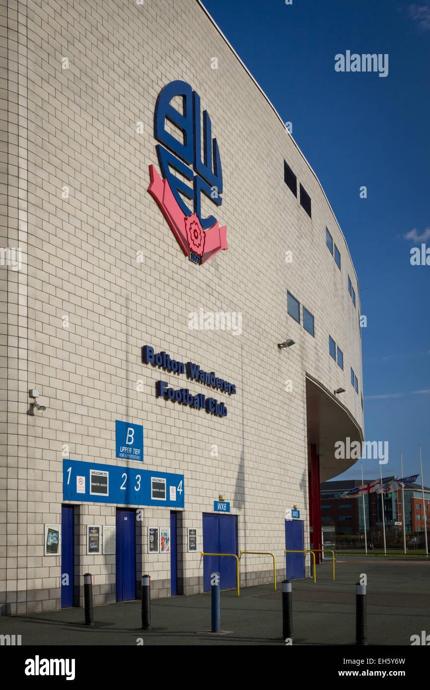 Bolton Wanderers Reebok Macron Stadium in Horwich, Bolton. - Stock Image