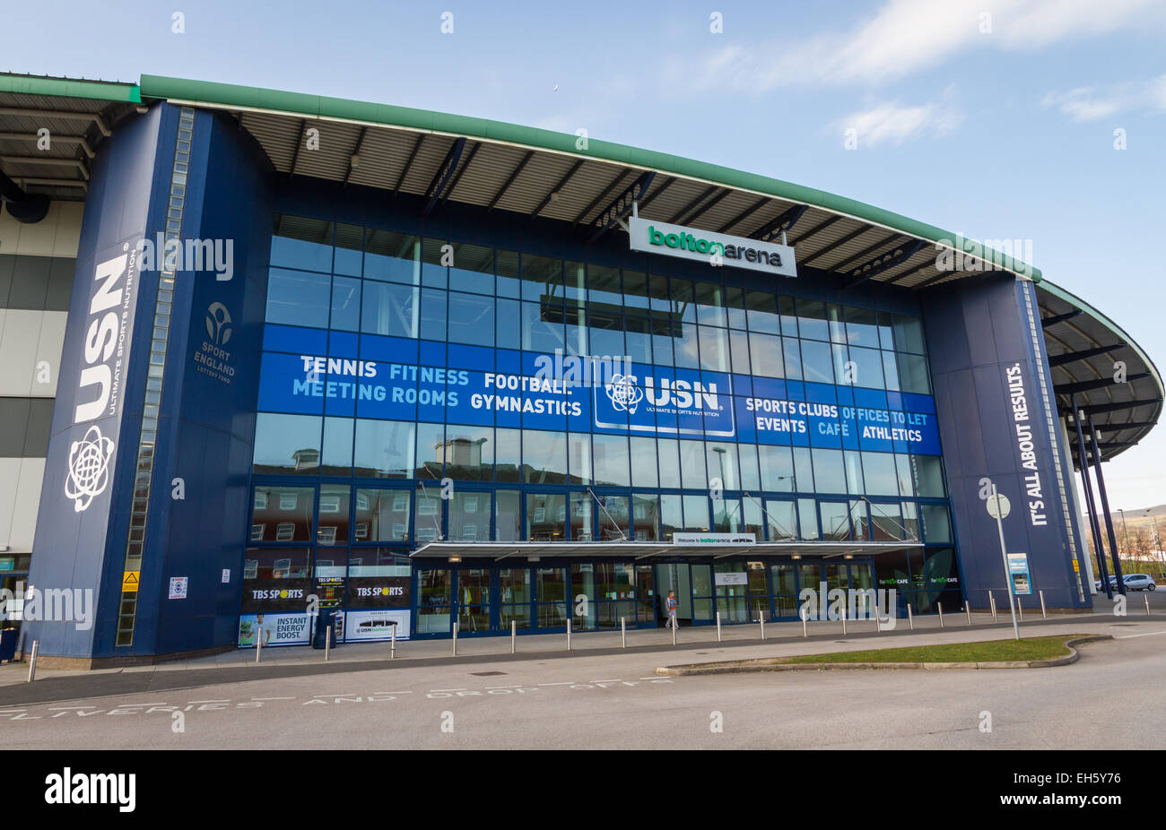 USN Bolton Arena at Middlebrook Retail Park, Horwich, Bolton - Stock Image