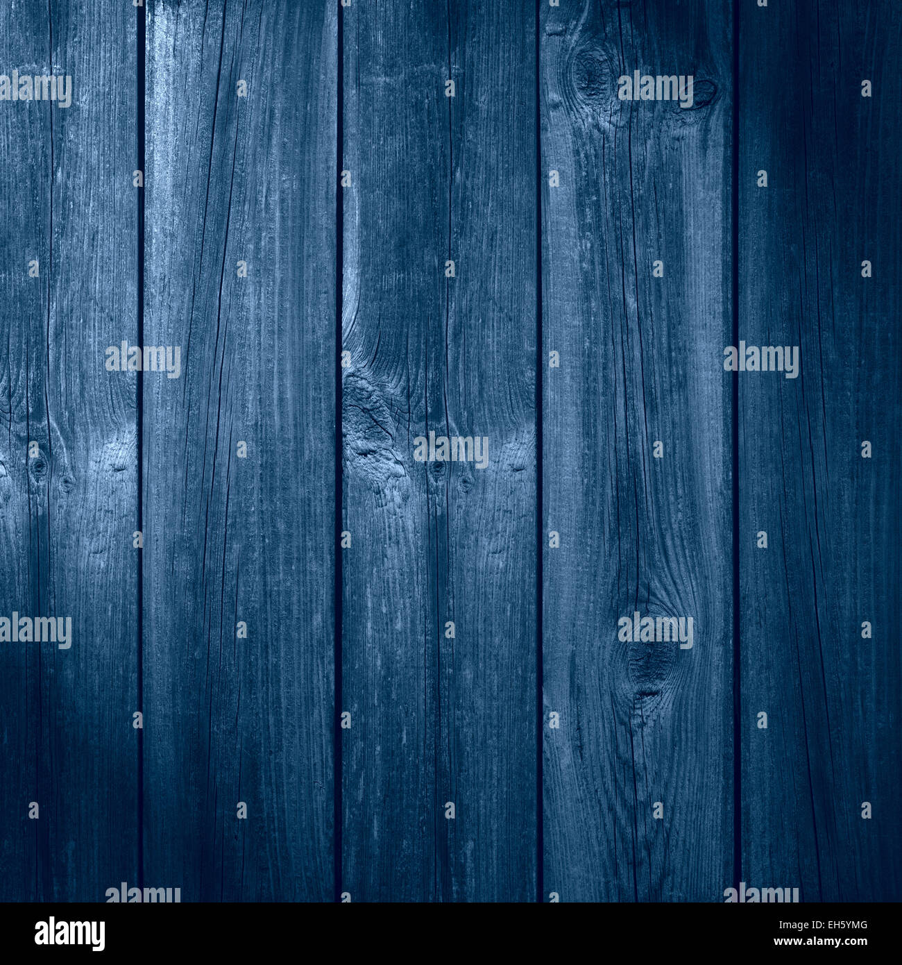 old wooden blue planks background or organic texture - Stock Image