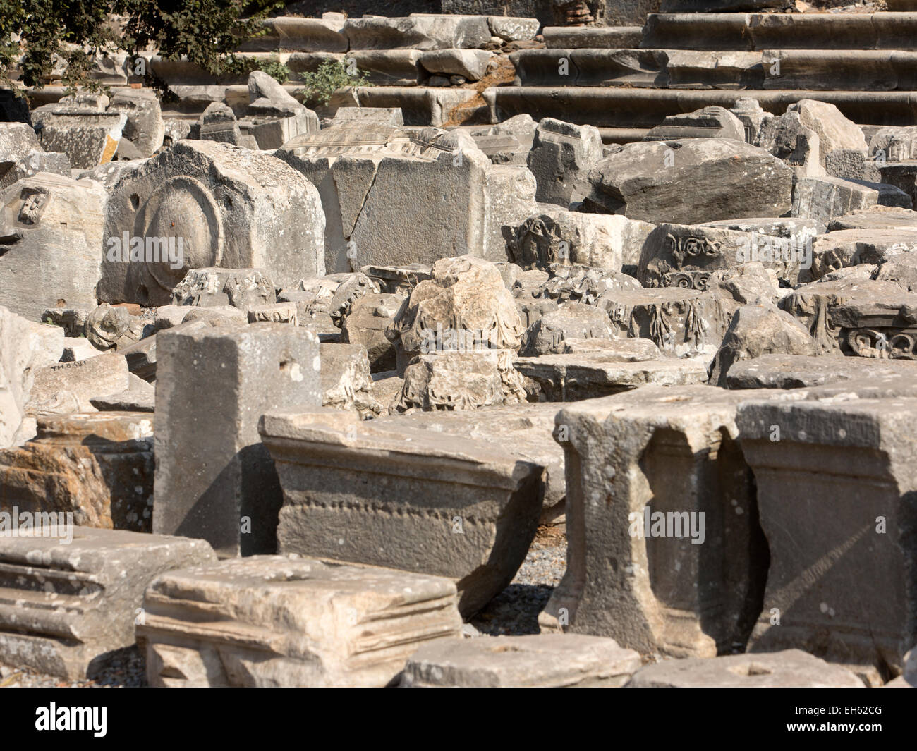 An Archaeological Site With Stones Rubble Outside Stock ...   Ancient Rubble Stone