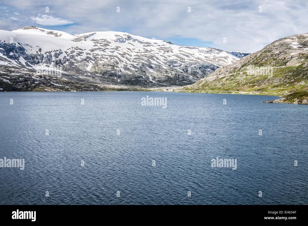 Mountain scenery in Jotunheimen National Park in Norway - Stock Image