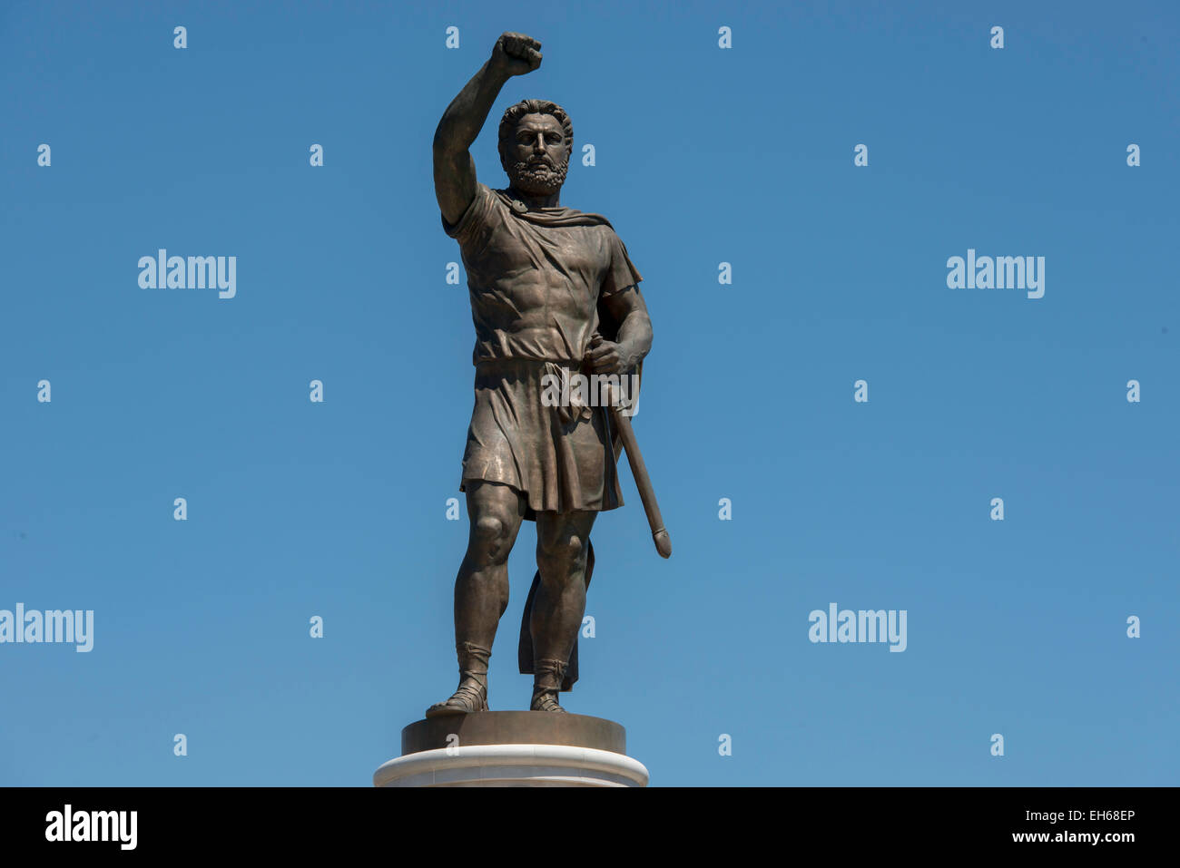 Statue Of Macedonian Hero, Skopje - Stock Image