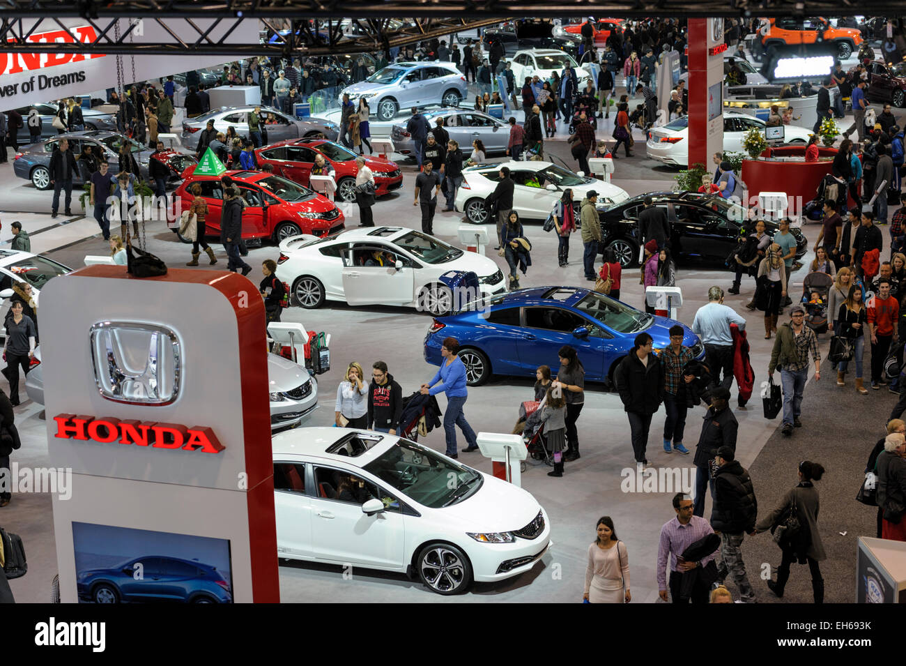 Section of Honda at Autoshow Toronto. - Stock Image