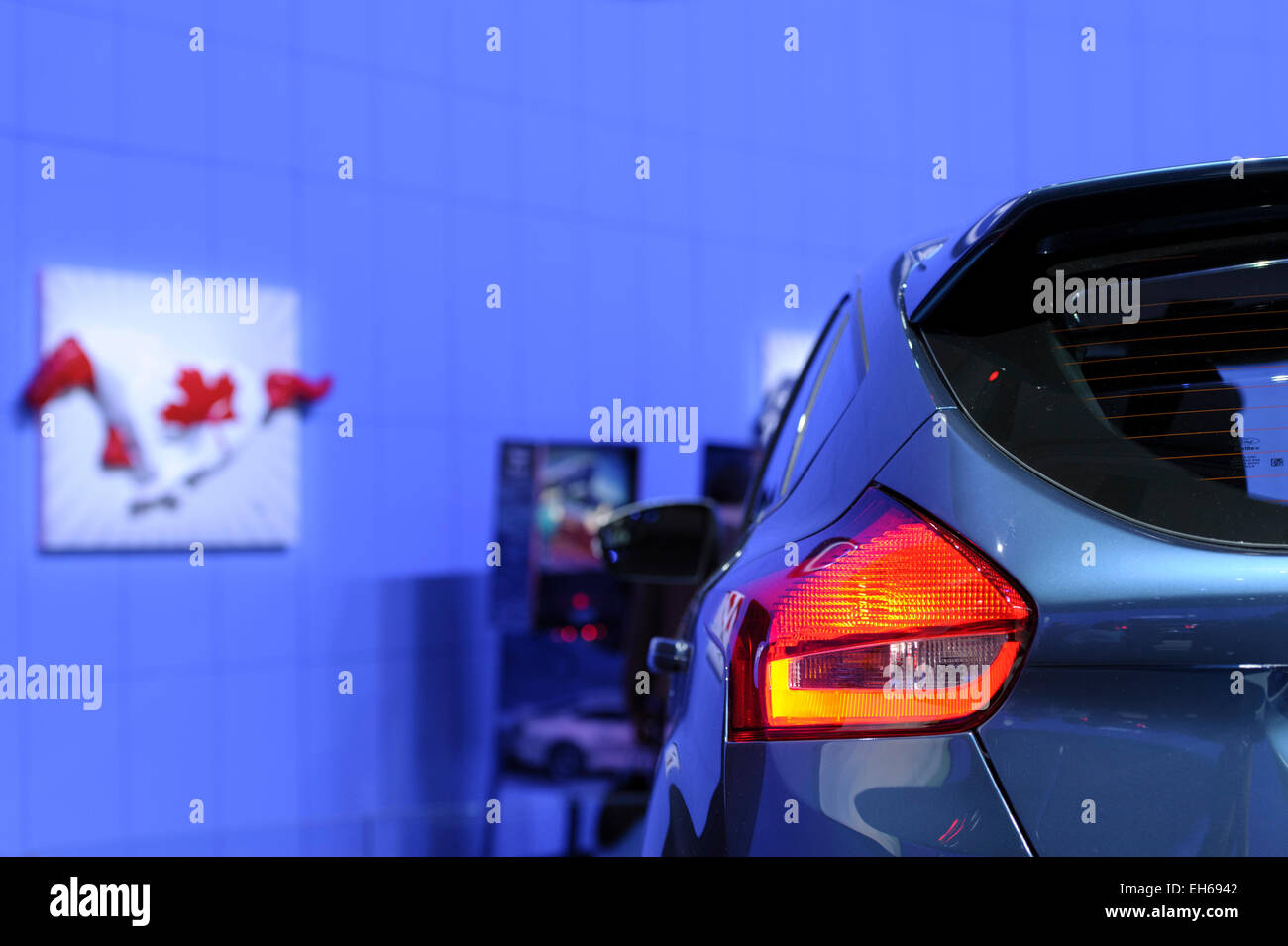 New Ford model Focus of year 2015 on Autoshow Toronto. - Stock Image