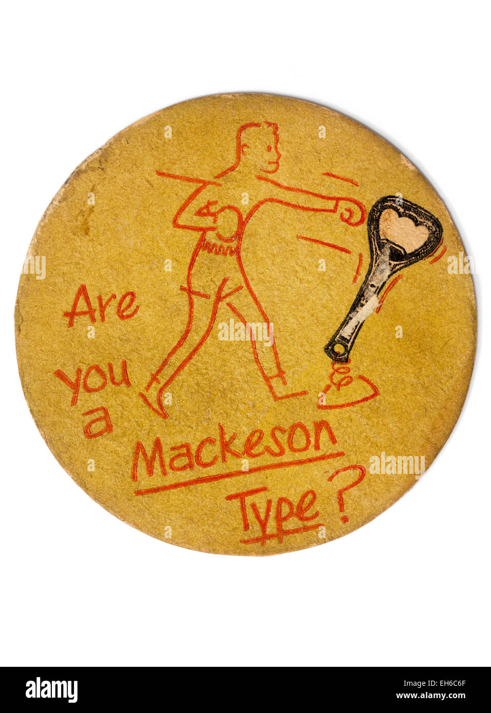 Vintage British Beermat Advertising Mackeson Beer Stock Photo