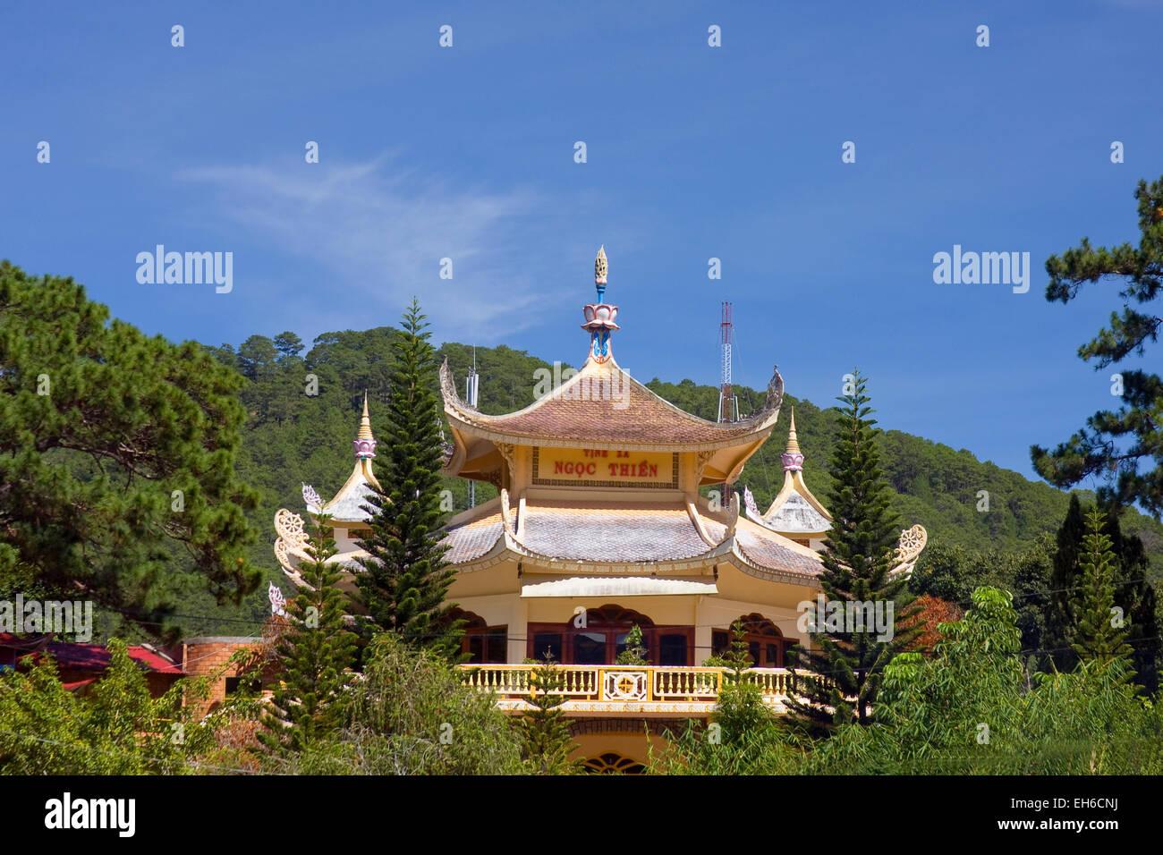 Truc Lam Pagoda, Dalat, Vietnam, Southeast Asia Stock Photo