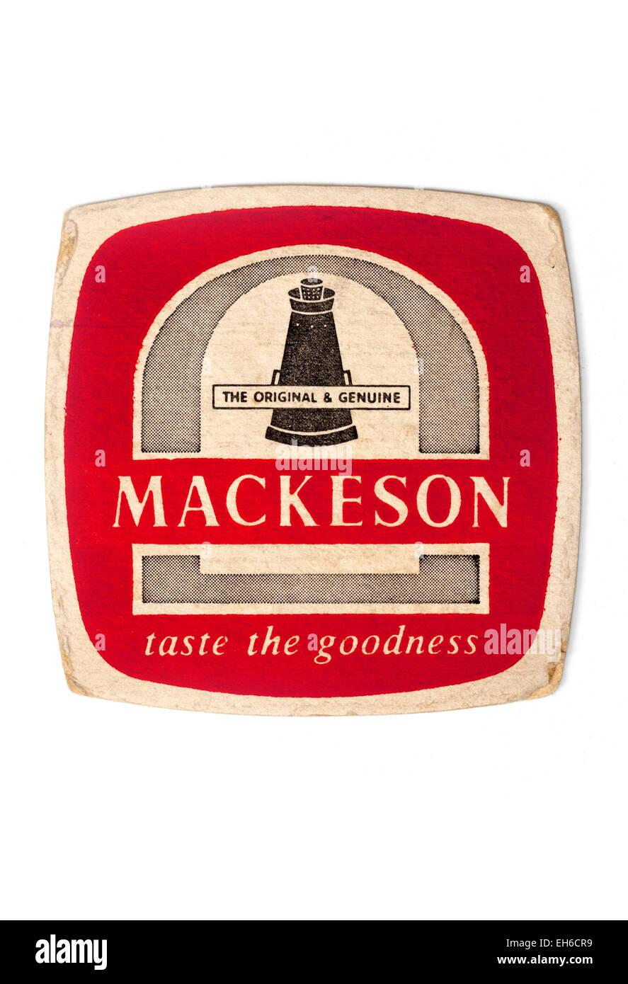 Vintage Beermat Advertising Mackeson Beer - Stock Image