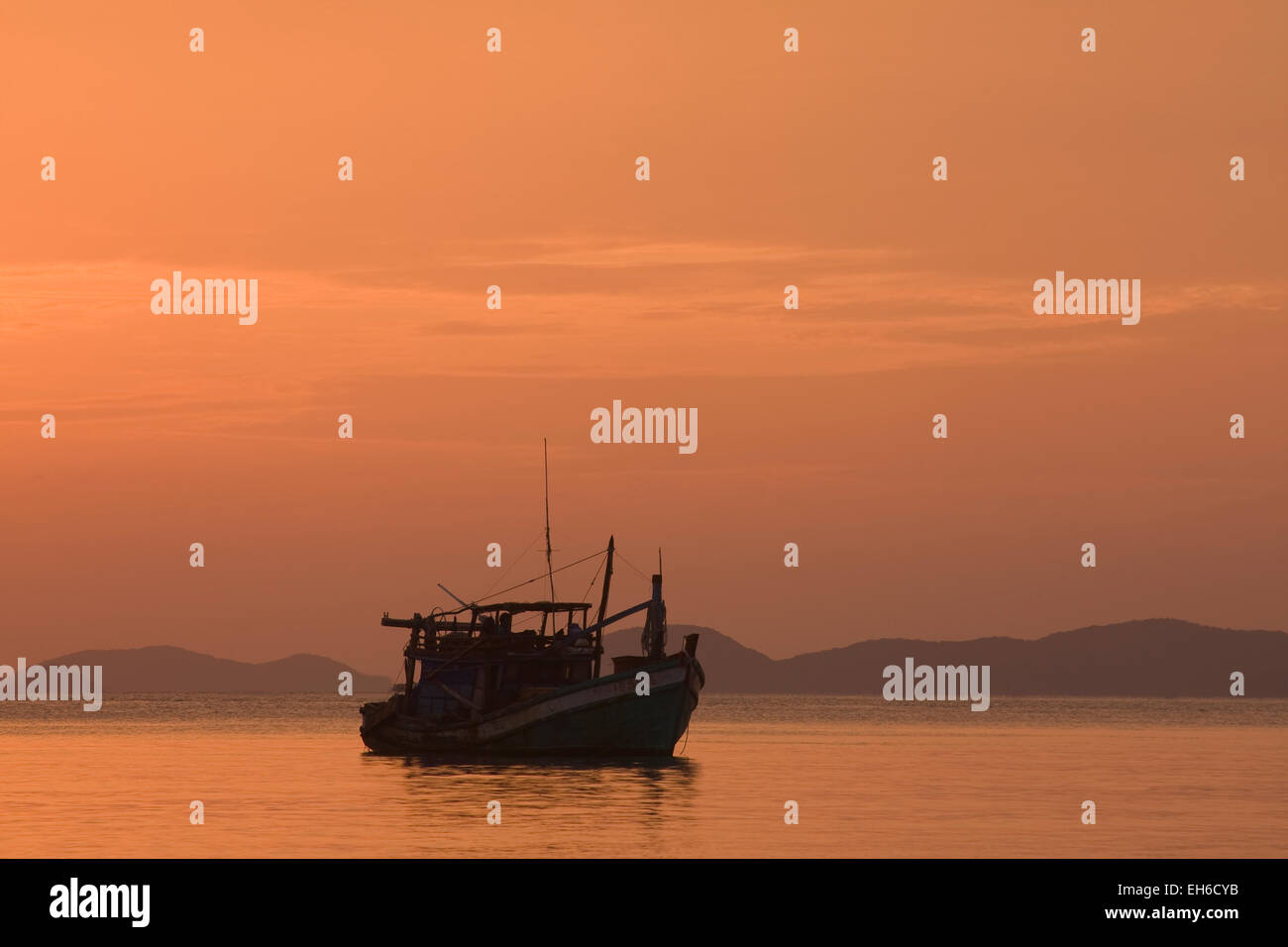 Sunset at the coast at Hat Tien, Vietnam, Southeast Asia - Stock Image