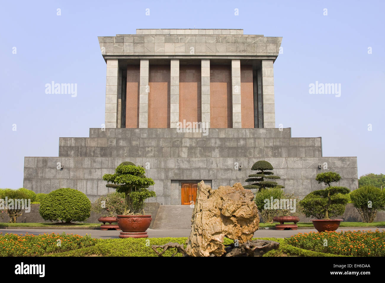 Ho Chi Minh Mausoleum in Hanoi, Vietnam - Stock Image