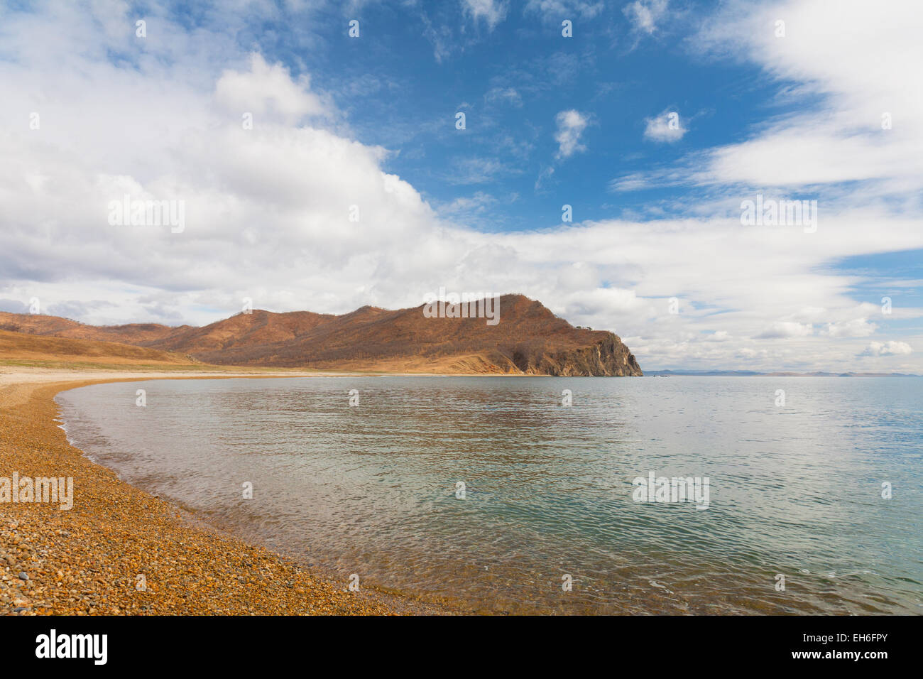Russia, Primorye. Bay near the cape of the Lion early in the morning Stock Photo