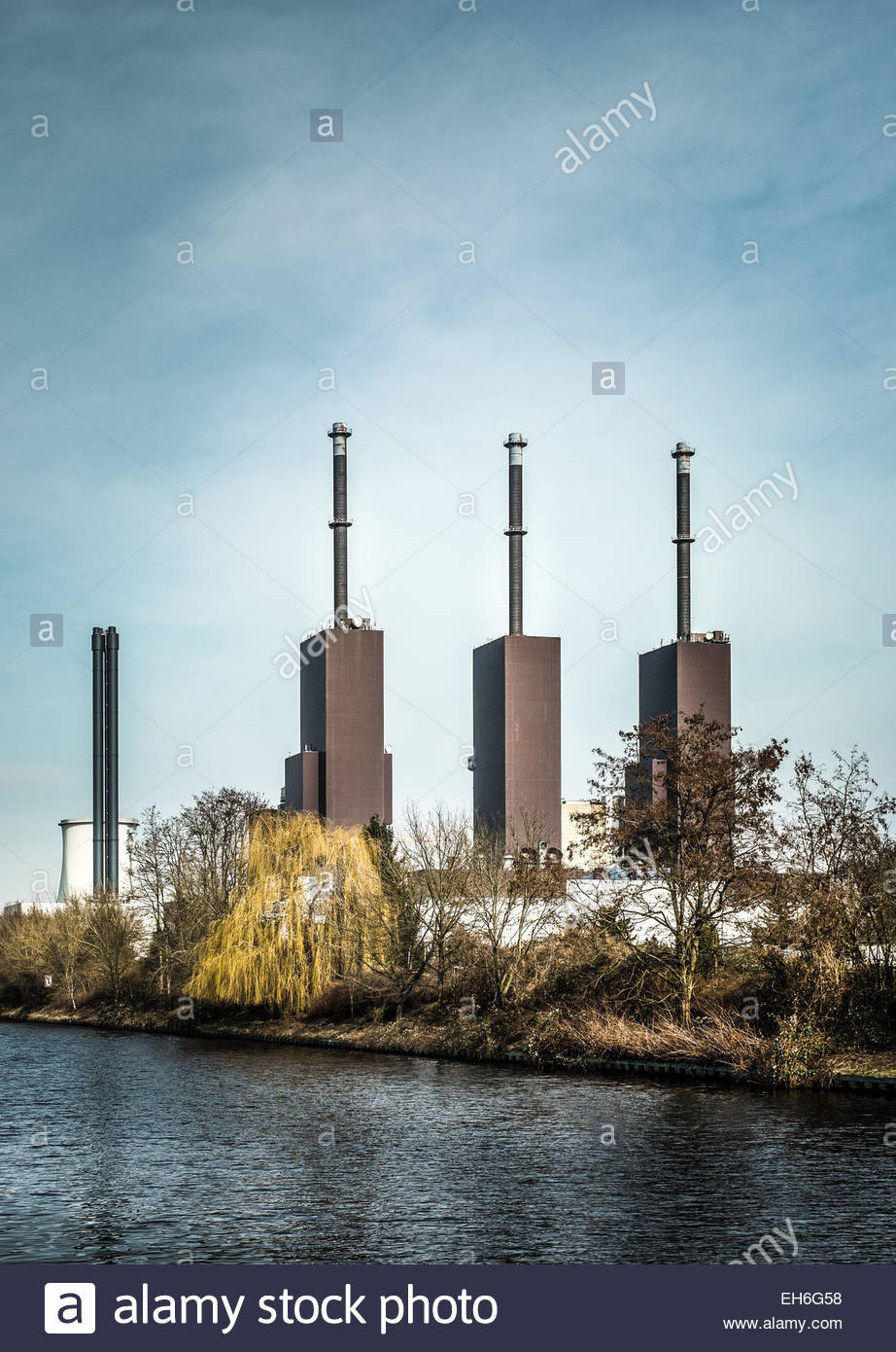 Generating Power Station Industry - Stock Image