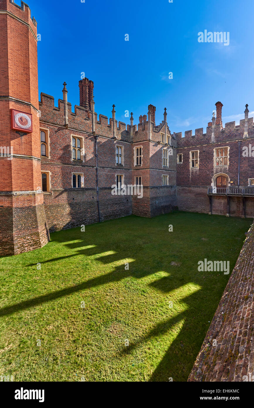 Hampton Court Palace is a royal palace in the London Borough of Richmond upon Thames, Greater London - Stock Image