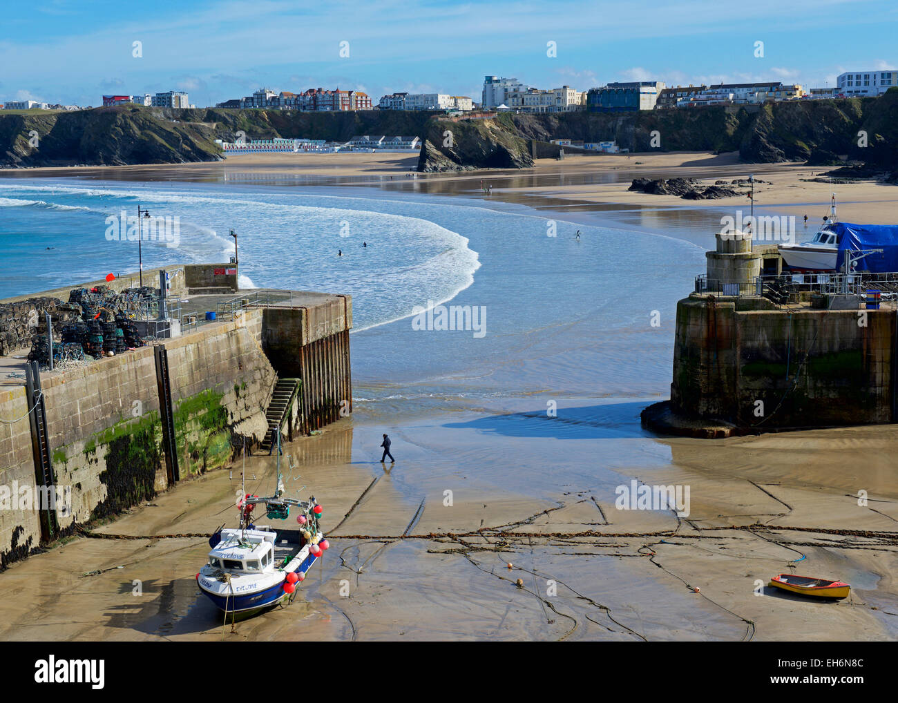 The harbour, Newquay, Cornwall, England UK - Stock Image