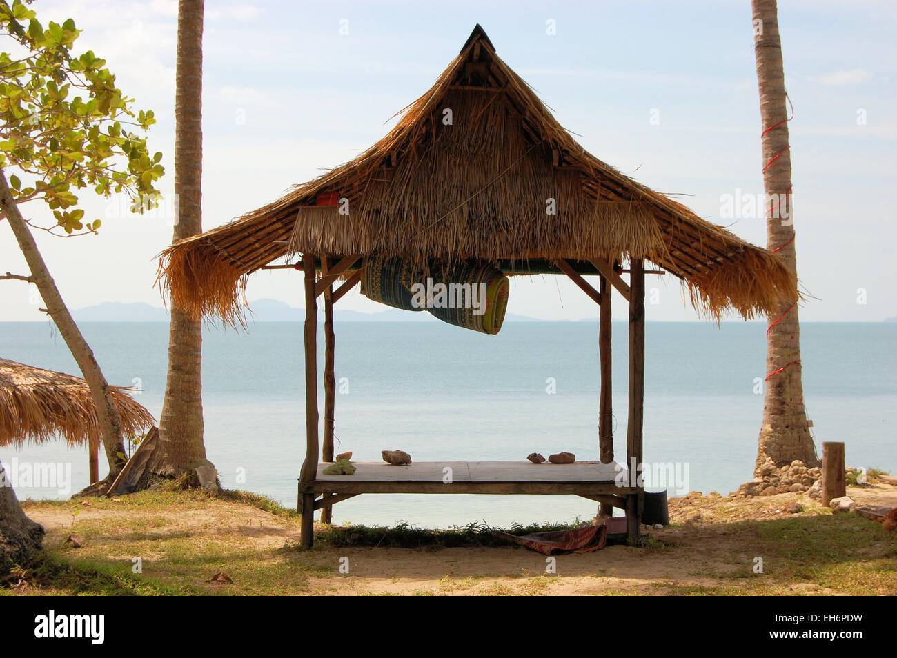 Tropical beach hut in Thailand - Stock Image