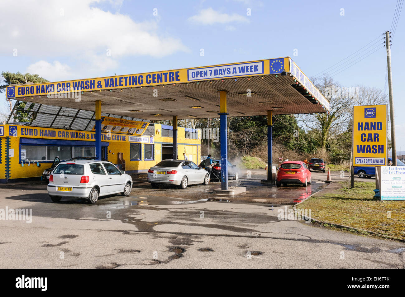 Euro Hand Car Wash And Valeting Centre Stock Photo 79441367 Alamy