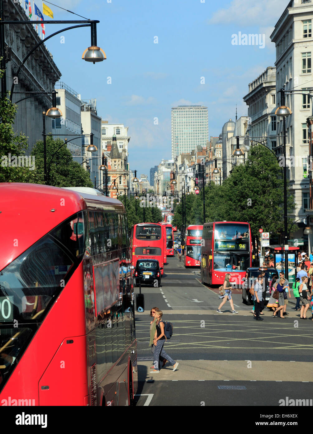 Oxford Street London West End - Stock Image
